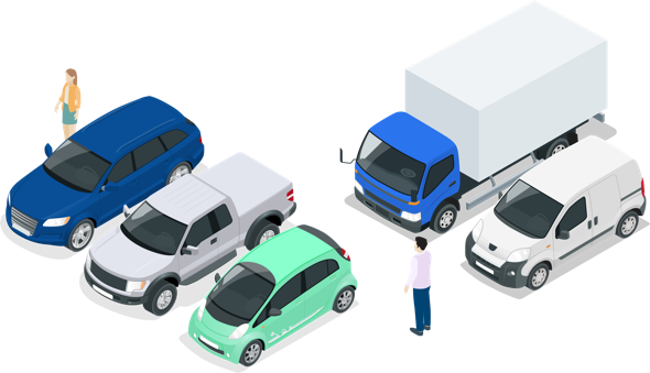 Je réalise un audit de parc personnalisé et je choisis mon service de mobilité : Communauté d'utilisateurs, stratégie véhicules, usages.